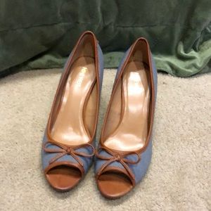 "Nine West ""Gidgito"" open toe heels, Sz 10M"